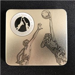 ROYAL CANDAIAN MINT .925 STERLING SILVER INVENTION OF BASKETBALL 50 CENT PIECE