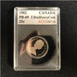 1982 CANADA 25c PR-69 (ACG 330716)