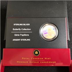 ROYAL CANADIAN MINT .925 STERLING SILVER BUTTERFLY COLLECTION WITH BOX AND CERT