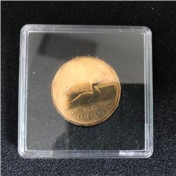 CANADA FIRST LOONIE DOLLAR 1987 CASED