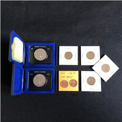 GREAT LOT OF CANADIAN COINS WITH WAR TIME NICKELS