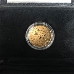 2001 WORLD FIGURE SKATING CHAMPIONSHIPS STAMP & 24KT. GOLD-PLATED MEDALLION SET - PAIRS/ICE DANCE
