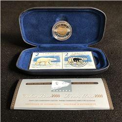 The Polar Bear 2000 Canada $2 Stamp & Coin Commemorative Collection COA