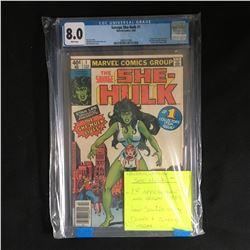 1980 SAVAGE SHE-HULK #1 (MARVEL COMICS) CGC UNIVERSAL GRADE 8.0