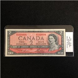 1954 CANADA $2 BANK NOTE (BEATTIE RAMINSKY) CUNC +65
