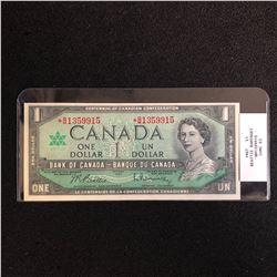 1967 CANADA $1 BANK NOTE (BEATTIE RAMINSKY) CUNC 63