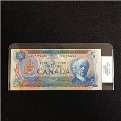 1972 CANADA $5 BANK NOTE (BOUEY RAMINSKI) CUNC +64