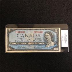 1954 CANADA $5 BANK NOTE (BOUEY RAMINSKI) CUNC +63