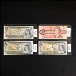 1973-1986 CANADIAN BANK NOTE LOT