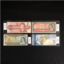 GRADED 1954-2006 CANADIAN BANK NOTES LOT