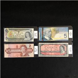 GRADED 1950-2000s CANADIAN BANK NOTE LOT
