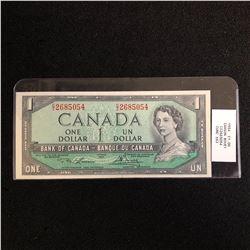 1954 CANADIAN $1 BANK NOTE (IAWSON BOUEY)