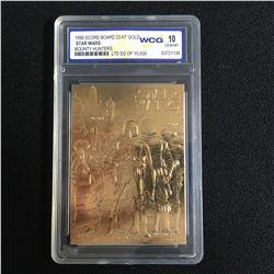 1996 SCORE BOARD 23KT GOLD STAR WARS BOUNTY HUNTERS (10 GEM MINT)