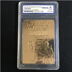 1996 SCORE BOARD 23KT GOLD STAR WARS SHADOWS OF THE EMPIRE (10 GEM MINT)
