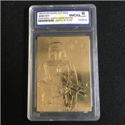 1996 SCORE BOARD 23KT GOLD BOBA FETT STAR WARS DARTH VADER EDITION (10 GEM MINT)