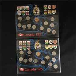 1992 Canada 125 - 12 Provincial Quarters & Loonie Collector Sets