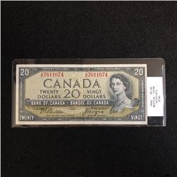 1954 CANADIAN $20 BANK NOTE (BEATTIE COYNE)