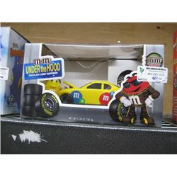 M AND M UNDER THE HOOD CANDY DISPENSER