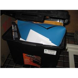 FILE CADDY WITH FILES AND ENVELOPES INSIDE