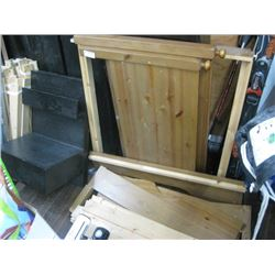 WOODEN BED FRAME SINGLE
