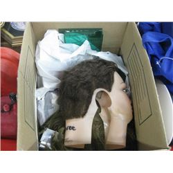 BOX OF ASSORTED HAIR STYLE STUFF