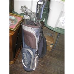 PING ZING 2 GOLD CLUBS WITH BAG