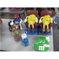 ASSORTED M AND M CANDY DISPENSER