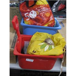 BIN OF KIDS TOYS AND BOOKS