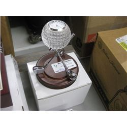 NEW GIFTWARE GOLF CLOCK WITH WOODEN BASE