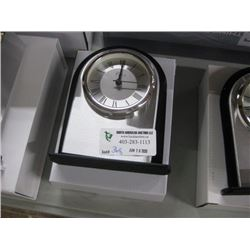 NEW GIFTWARE SILVER AND BLACK CLOCK