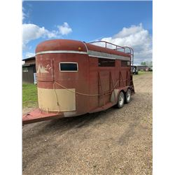 1982 Wy-Lee 16 ft stock trailer, tandem 2721axles, wooden floor in good shape, paint faded 2 inch ba