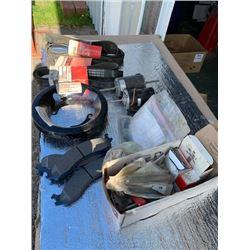 BRSD ( Assortment new parts, Belts,12 volt motors, Brake pads, Wheel bearings