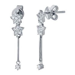 0.28 CTW Diamond Earrings 14K White Gold - REF-24Y3X