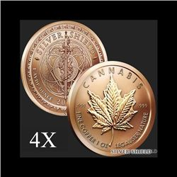 1 oz Cannabis .999 Fine Copper Round