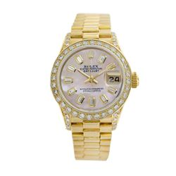 Rolex Pre-owned 26mm Womens Pink MOP 18K Gold - REF-1140X2K