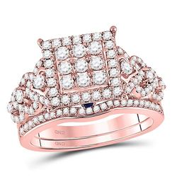 1 CTW Round Diamond Bridal Wedding Engagement Ring 14kt Rose Gold - REF-90T3K