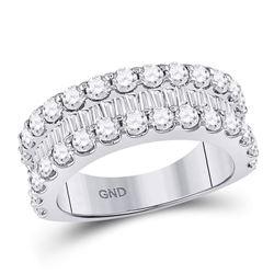 2 & 5/8 CTW Round Diamond Anniversary Ring 14kt White Gold - REF-156K3R