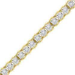 1/2 CTW Round Diamond Tennis Bracelet 10kt Yellow Gold - REF-75M5A