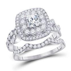 2 CTW Princess Diamond Bridal Wedding Engagement Ring 14kt White Gold - REF-215A9N