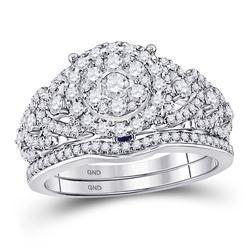 1 CTW Round Diamond Bridal Wedding Engagement Ring 14kt White Gold - REF-105K5R