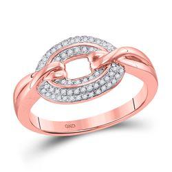 1/5 CTW Round Diamond Captured Circle Cluster Ring 10kt Rose Gold - REF-24W3F