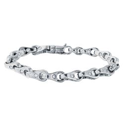 3.86 CTW Diamond Bracelet 14K White Gold - REF-471H3M