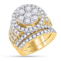 4 & 7/8 CTW Round Diamond Bridal Wedding Engagement Ring 14kt Yellow Gold - REF-455T9K