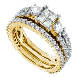 2 CTW Princess Diamond Bridal Wedding Engagement Ring 14kt Yellow Gold - REF-168T3K