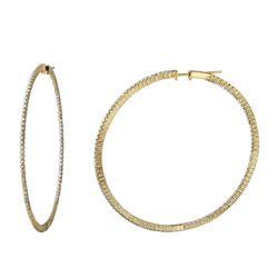 1.59 CTW Diamond Earrings 14K Yellow Gold - REF-124X6R