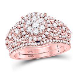 1 CTW Round Diamond Bridal Wedding Engagement Ring 14kt Rose Gold - REF-105F5M
