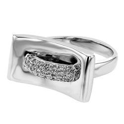 0.42 CTW Diamond Ring 18K White Gold - REF-104H8M