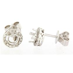 0.18 CTW Diamond Earrings 14K White Gold - REF-29K9W