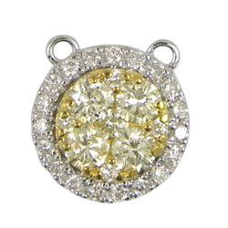 0.61 CTW Diamond Pendant 14K White Gold - REF-65R6K