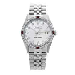 Rolex Pre-owned 36mm Mens White Stainless Steel - REF-580M3R
